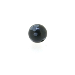 Snowflake Obsidian kraal rond 6 mm (10 st.)