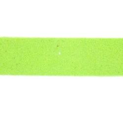 Veter, suede, plat, 10 mm, limegroen (1 meter)