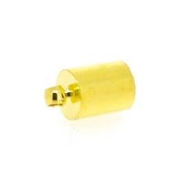 Eindkapje, goud, rond, 12 mm, binnenmaat 6,5 mm (6 st.)
