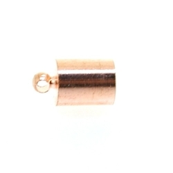 Eindkapje, roségoud, rond, 12 mm, binnenmaat 6,5 mm (6 st.)