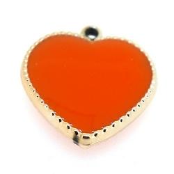 Resin, hanger, hart, oranje, 24 mm (3 st.)