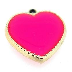Resin, hanger, hart, roze, 24 mm (3 st.)
