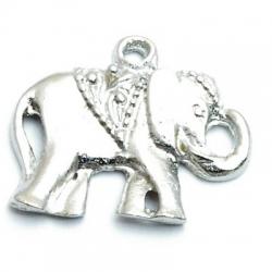 Metaal, bedel, olifant, zilver, 21 mm (3 st.)