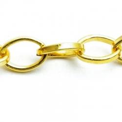 Jasseron ketting, goud (1 mtr.)