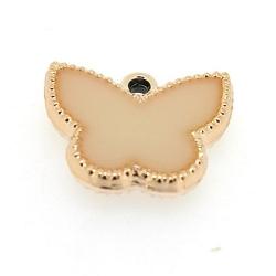 Resin, hanger, vlinder, wit, 14 x 17 mm (6 st.)