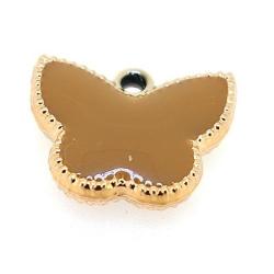 Resin, hanger, vlinder, camel, 14 x 17 mm (6 st.)
