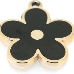Resin, hanger, bloem, zwart, 37 mm (2 st.)