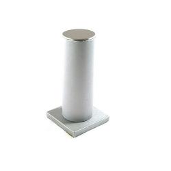 Armband display, staand, PU leer, zilver, 1 rol (1 st.)