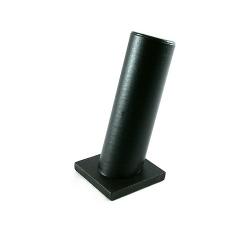 Armband display, schuin, PU leer, zwart, 1 rol (1 st.)