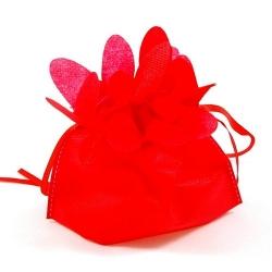 Cadeautasje, bloem, rood/geel, 18 x 17 cm (1 st.)