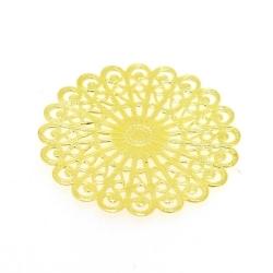 Ornament, filligrain, goud, 38 mm (3 st.)