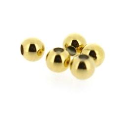 DQ Metalen kraal, rond, goud, 3 mm (100 st.)