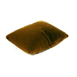 Sieradenkussentje, velours, bruin, 12 x 9 cm (1 st.)