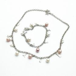 Bedelketting en -armband, zilver (1 st.)
