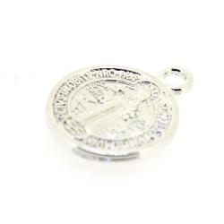 Metaal, bedel, zilver, muntje, 15 mm (10 st.)