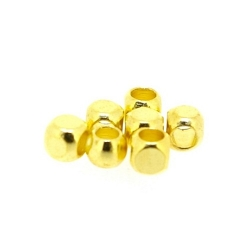 DQ Metalen kraal, goud, 3 mm (100 st.)