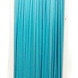 Staaldraad lichtblauw 0.38mm (100 meter)