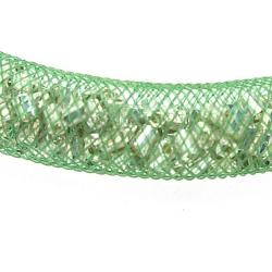 Nylon gaas buisje tbv Stardust Style Bracelet, groen, 4 mm (1 mtr.)