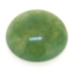 Cabochon, halfedelsteen, Green Aventurine, rond, 14 mm (3 st.)