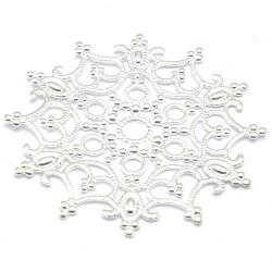 Ornament, filligrain, zilver, 47 mm (2 st.)