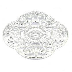 Ornament, filligrain, zilver, 30 mm (2 st.)