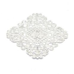 Ornament, filligrain, zilver, 40 mm (2 st.)