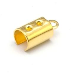 Veter-/koordklem, goud, 5 x 12 mm (25 st.)