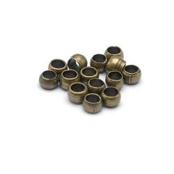 Knijpkralen, antique goud, 2,5 mm (10 gr.)