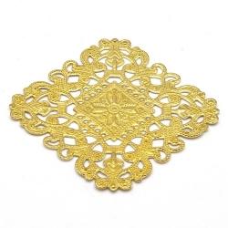 Ornament, filligrain, goud, 40 x 40 mm (2 st.)