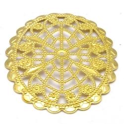 Ornament, filligrain, goud, 45 x 36 mm (2 st.)