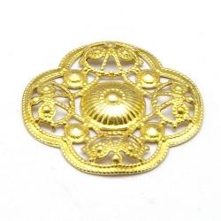 Ornament, filligrain, goud, 20 mm (2 st.)
