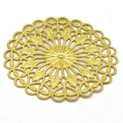 Ornament, filligrain, goud, 38 mm (2 st.)
