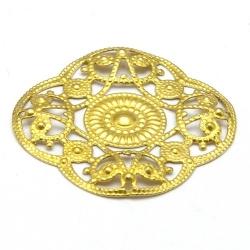Ornament, filligrain, goud, 28 mm (2 st.)