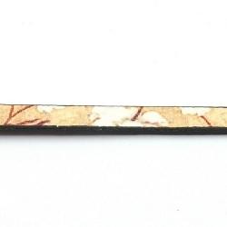 Natuurleer plat bloem beige/wit 5mm (1 mtr)