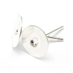 Oorbel zilver 8 mm (10 st.)