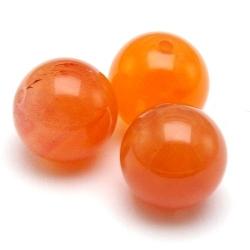 Orange Botswana Agaat kraal rond 8 mm (10 st.)
