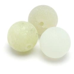 New Jade Frost kraal rond 8 mm (10 st.)