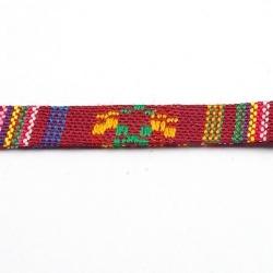 Aztec koord plat roze 10 mm (1 mtr.)
