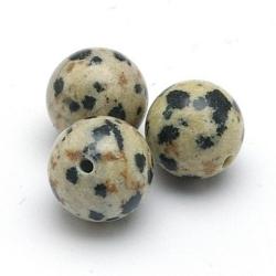 Dalmatier Jaspis kraal rond 8 mm (10 st.)