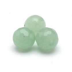 New Jade kraal rond facet 6 mm (10 st.)