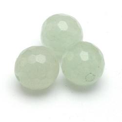 New Jade kraal rond facet 8 mm (10 st.)