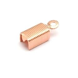 Veterklem roségoud recht 4 mm (25 st.)