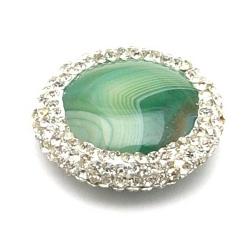 Agaat kraal glitter rond groen 22 mm (1 st.)