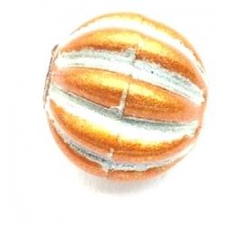 Kunststof kraal rond lichtbruin 14 mm (10 st.)