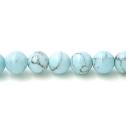 Gekleurd steen kraal lichtblauw 4mm (20 st.)