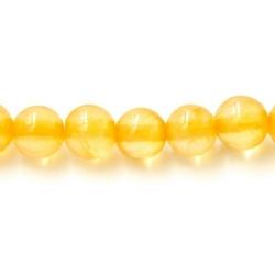 Gekleurd steen kraal geel 4 mm (20 st.)