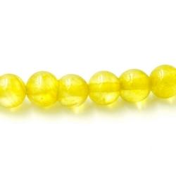 Gekleurd steen kraal okergeel 4 mm (20 st.)