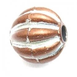 Kunststof kraal rond bruin 14 mm (10 st.)