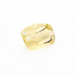 Glaskraal, rechthoekig, geel, 13 x 8 mm (10 st.)