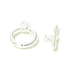 Kapittelslot zilver 10mm (5 st.)